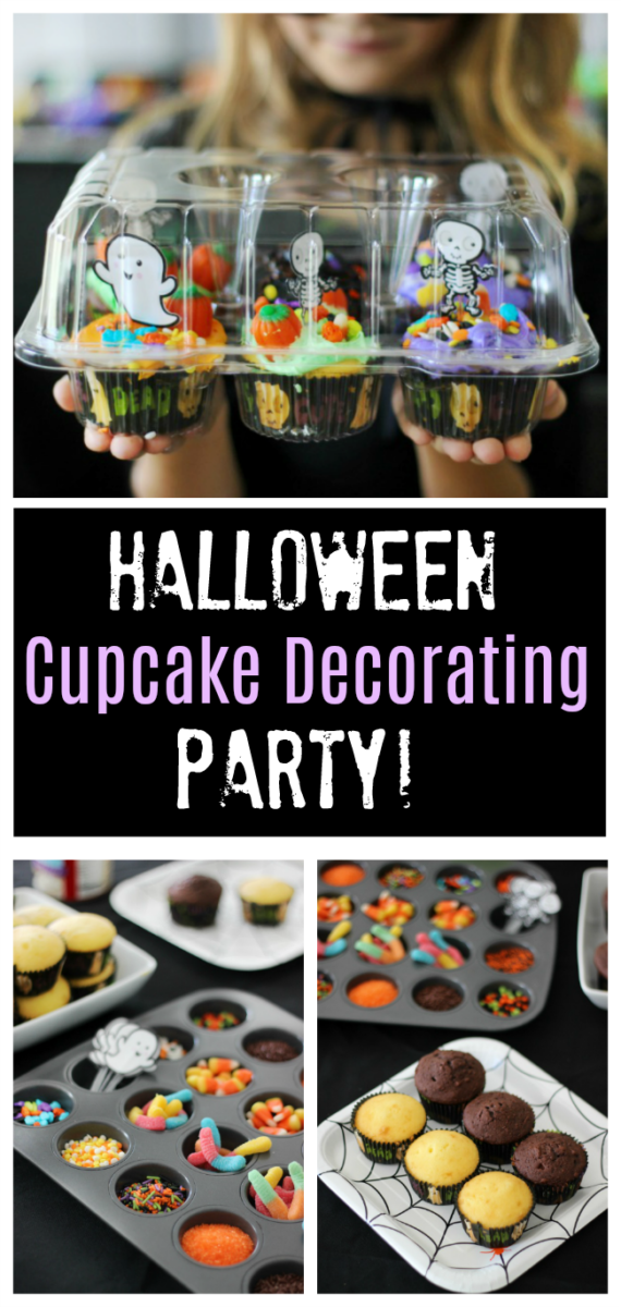 cupcake decorating party collage