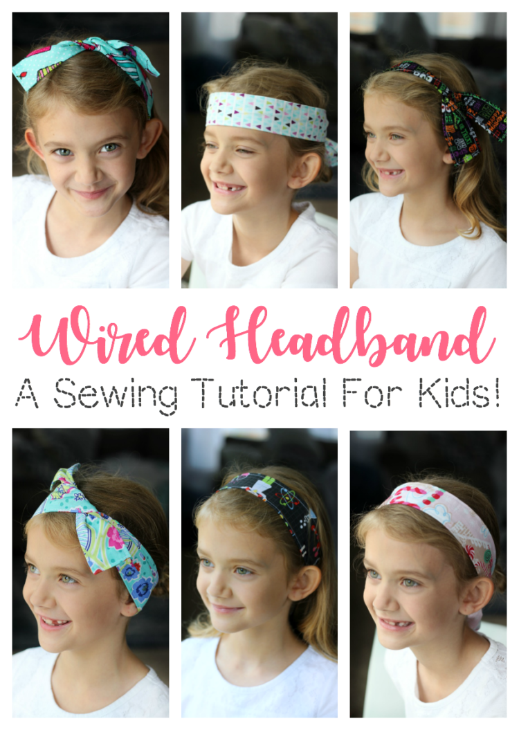 A wired headband is a quick and easy sewing project for kids! It makes a great gift and there are so many cute ways to wear it!