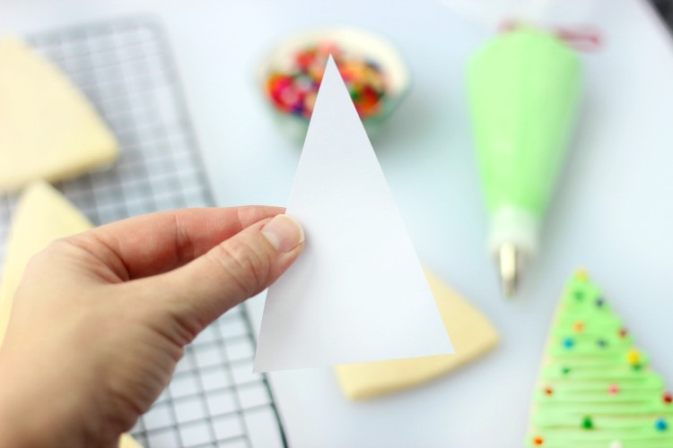 paper template for cutting out tree shaped cookies