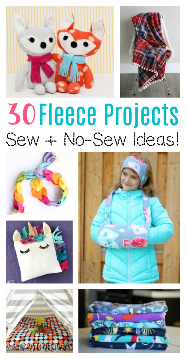 30 Fleece Sewing and No-Sew Projects to Make! - Gluesticks