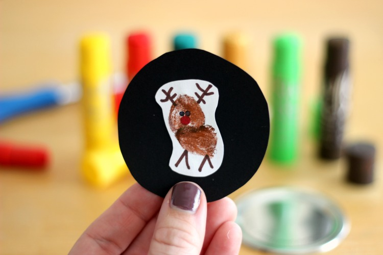 reindeer thumbprint