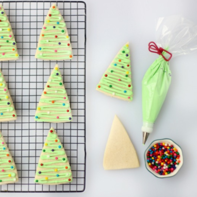 tree cookies on cooking rack
