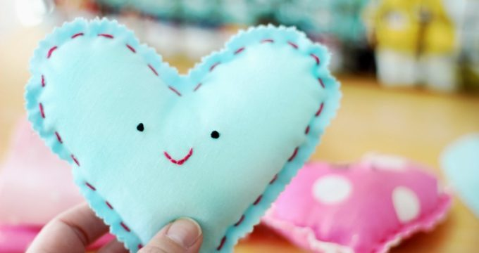 Beginning Sewing Project For Kids: Make a Heart Plushie!