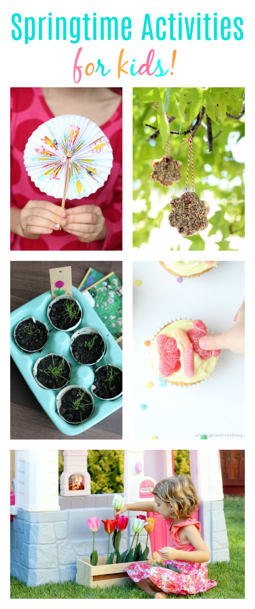 Winter is behind us and we have a few cooler months before summer. Here's a collection of creative springtime activities for kids. Both outdoor and indoor activities, perfect rainy or sunny days!