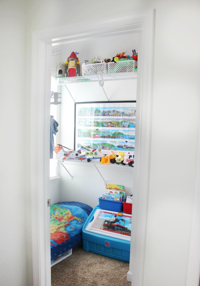 Walk In Closet Turned Into Creative Toddler Bedroom