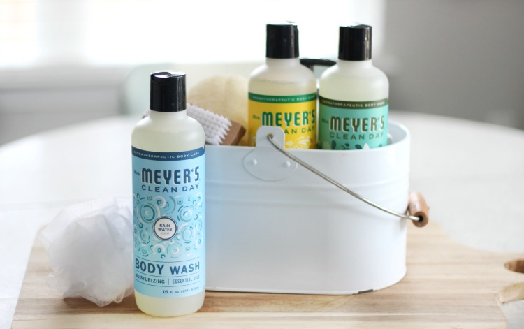 mrs. meyers body wash gift basket