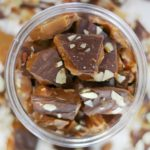 english toffee inside jar
