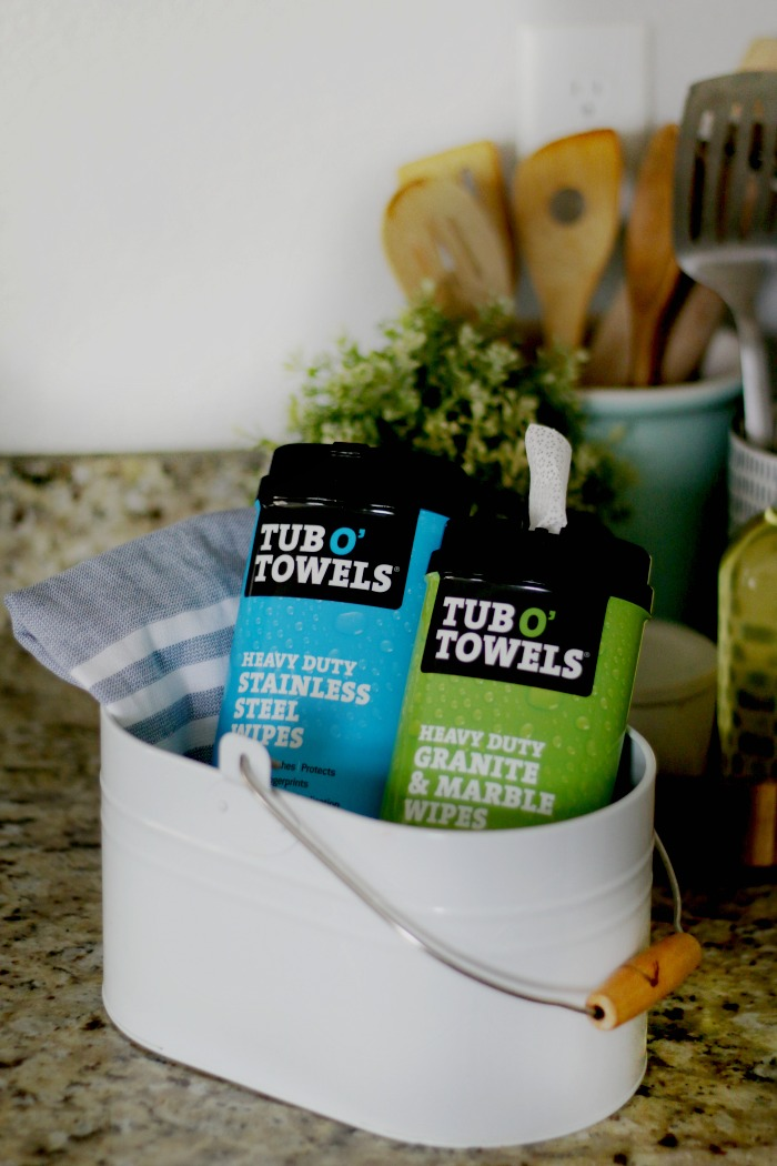 two container of tub o towels cleaning wipes for counters