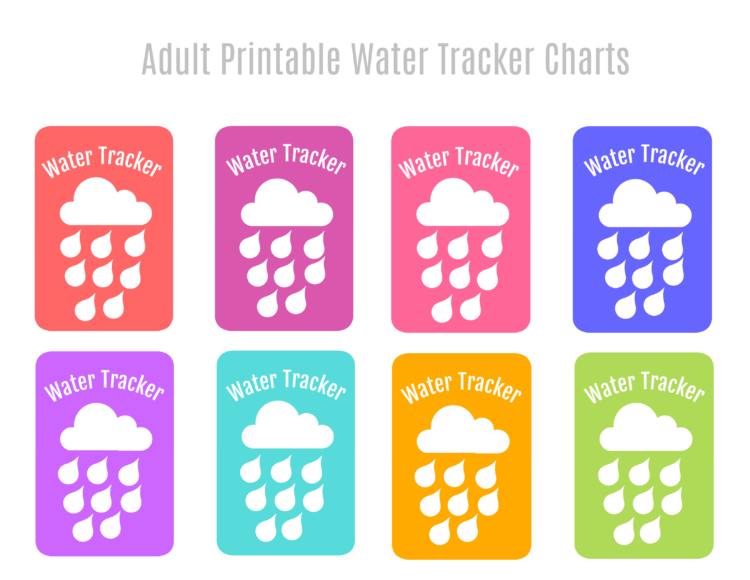 printable adult water tracker charts