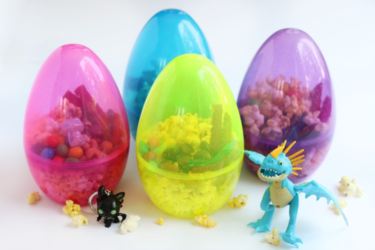 4 giant dragon egg popcorn snack containers