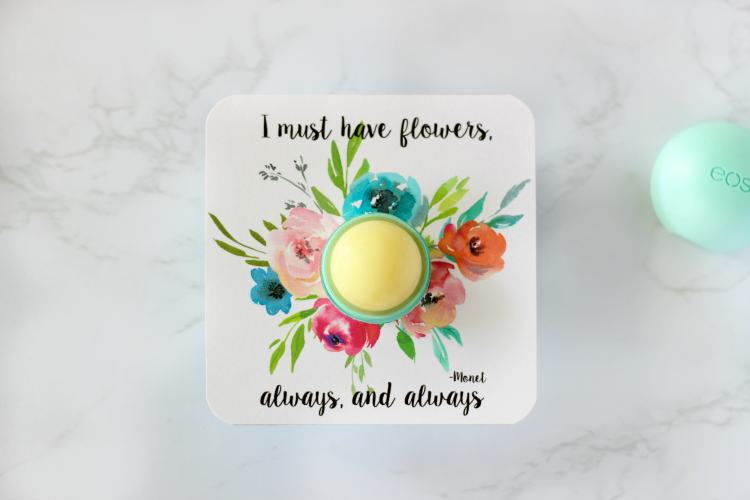 printable with lip balm in the center, no cap