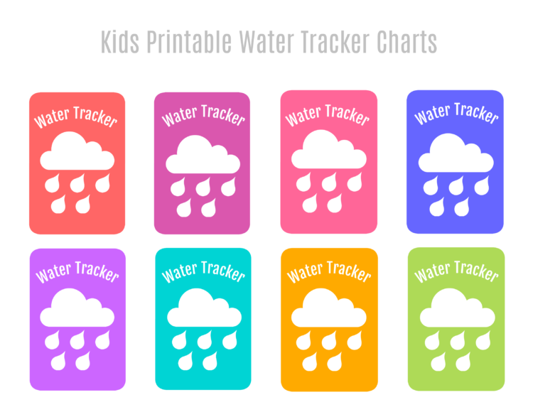 photo regarding Printable Water Tracker titled Dry Erase Printable Drinking water Tracker Magnets - Gluesticks Website