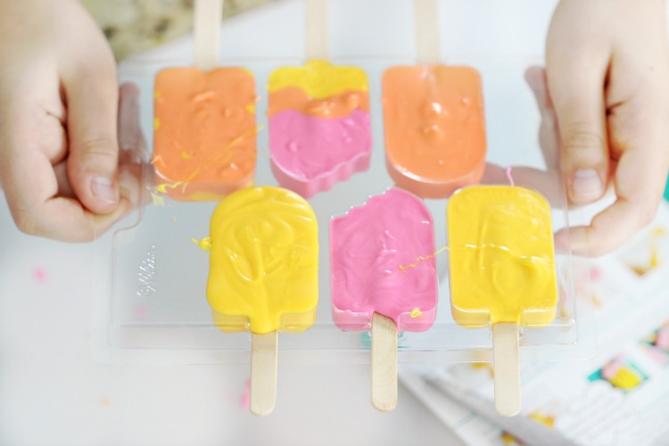 candy popsicle cupcake toppers in mold