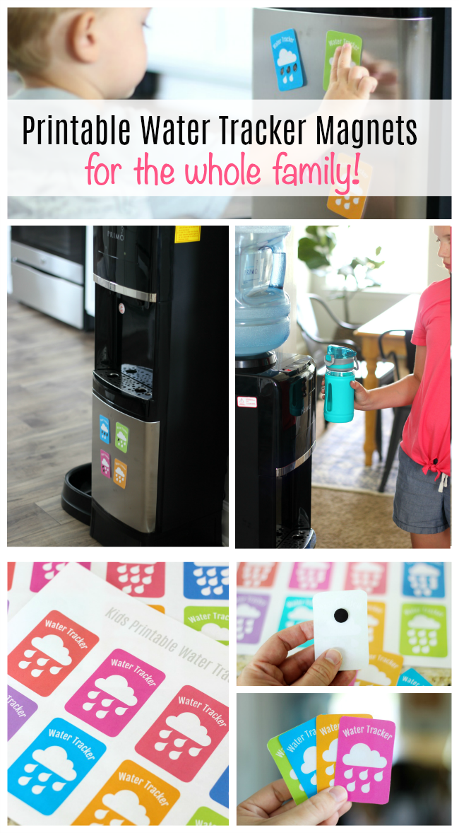Is your family drinking enough water during the summer months? Keep track with these dry-erase printable water tracker magnets that stick to the front of your water dispenser or refrigerator!