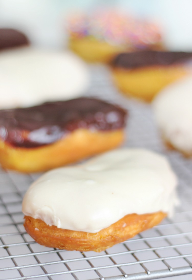 maple glazed biscuit dough donut