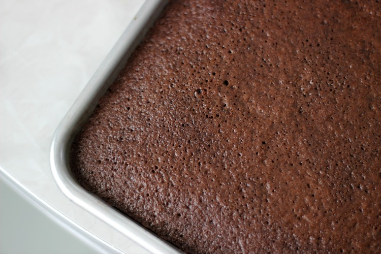unfrosted texas sheet cake
