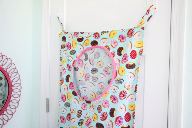 laundry bag on door