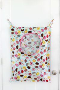 laundry bag hanging on door