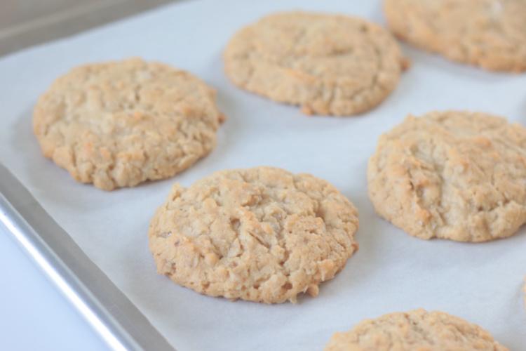 poor man's cookies on baking sheet