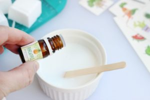 adding essential oils to soap