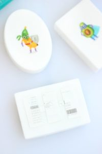 apply temporary tattoo to soap