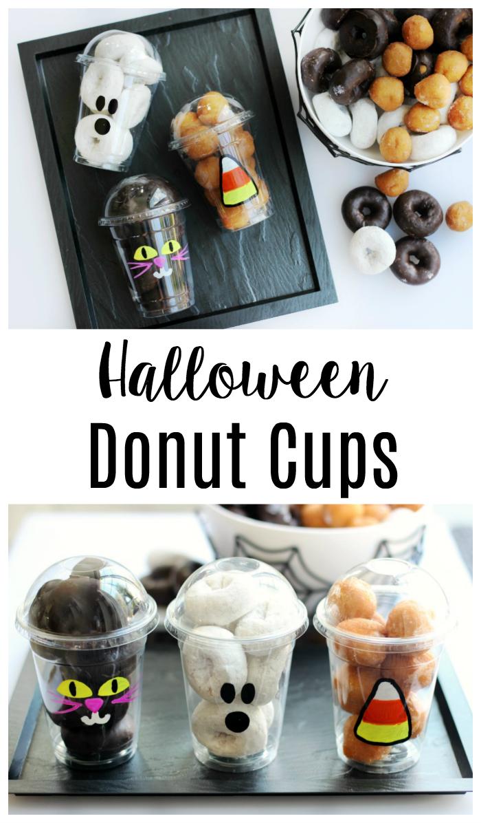 halloween donut cups