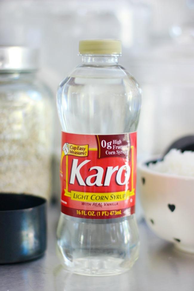 bottle of karo syrup corn syrup