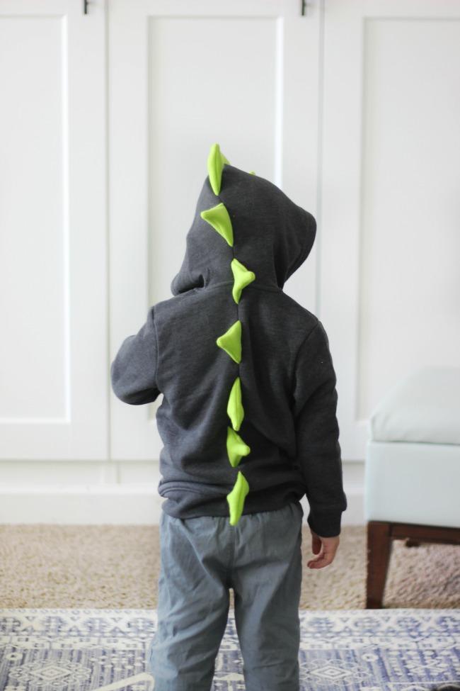 toddler dinosaur hoodie tutorial