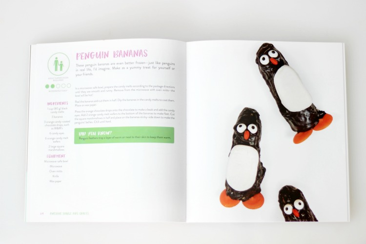 instructions for making frozen banana penguins