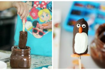 frozen banana penguins