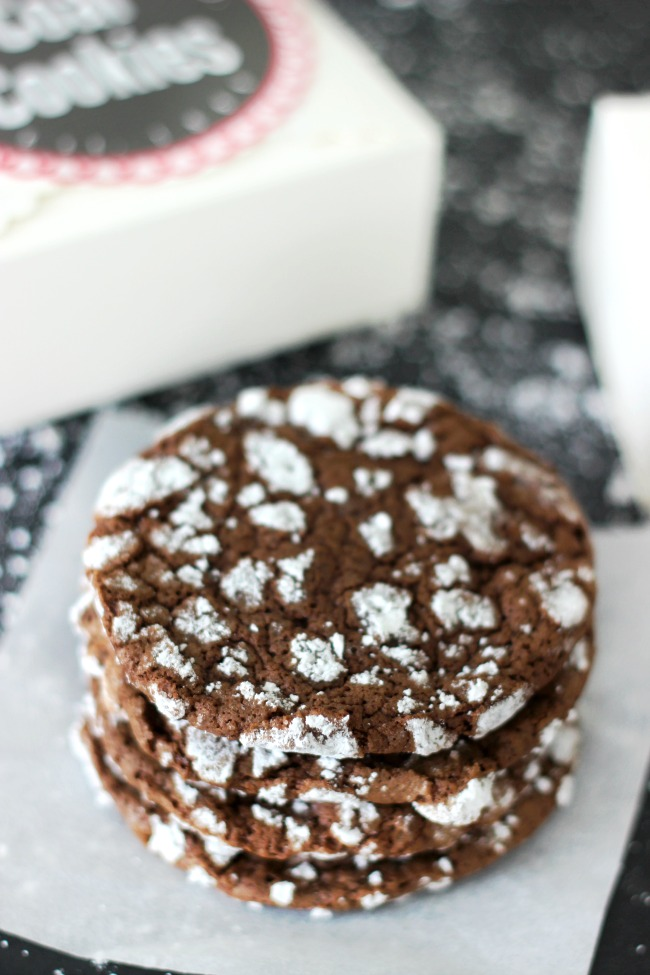 chocolate crinkle coal cookies