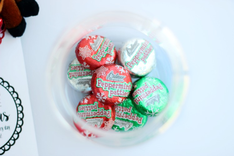 christmas candy in jars