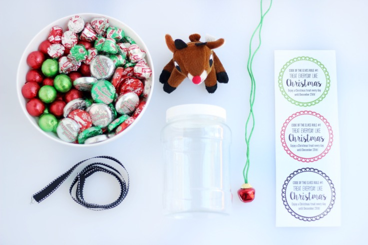 supplies for christmas countdown jars