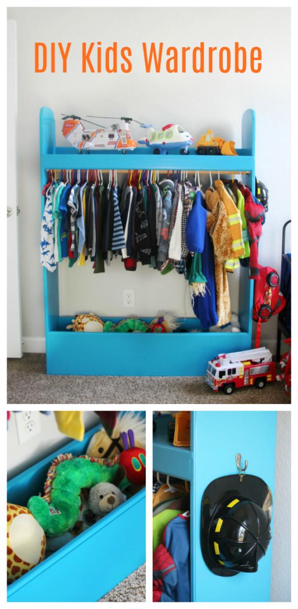 Picture of: Diy Kids Wardrobe Closet For Dress Up Or Storage Gluesticks Blog
