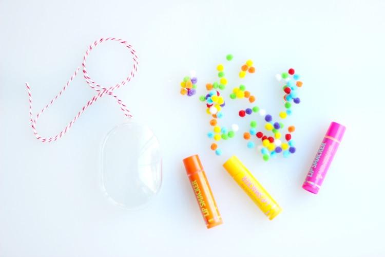 supplies to make lip gloss ornaments
