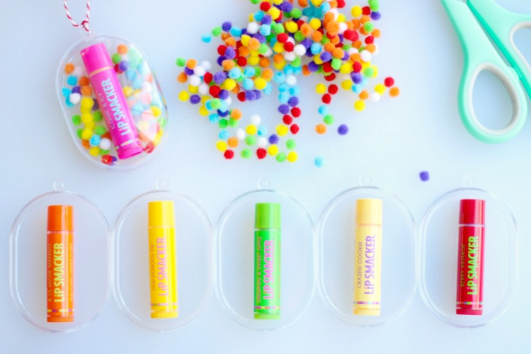 how to make lip gloss ornaments