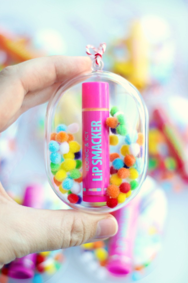 finished lip smacker ornament for tweens