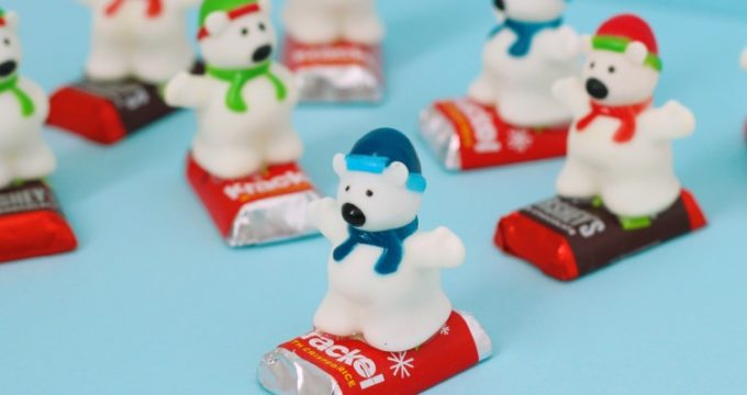 Snowboarding Polar Bear Treats for Holiday Parties