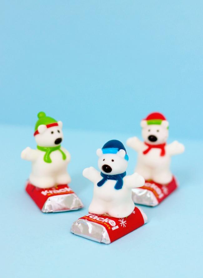 snowboarding polar bear treats