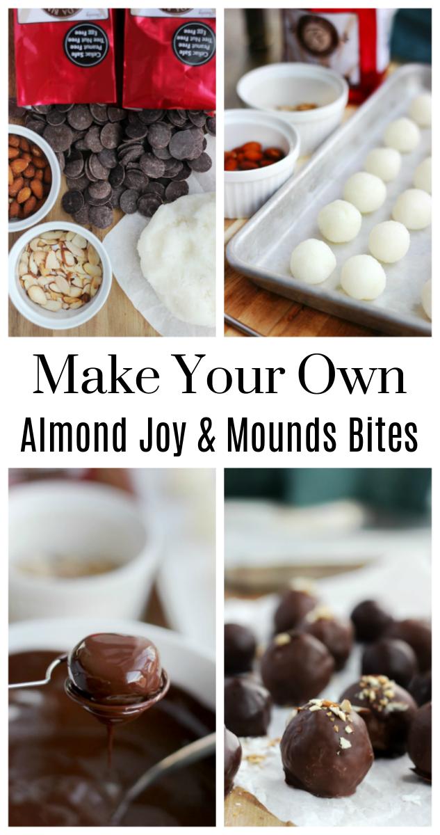 almond joy bites on baking sheet
