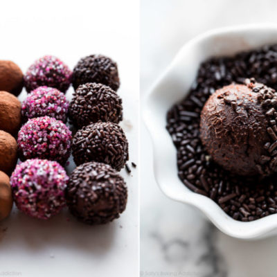 chocolate truffles rolled in sprinkles