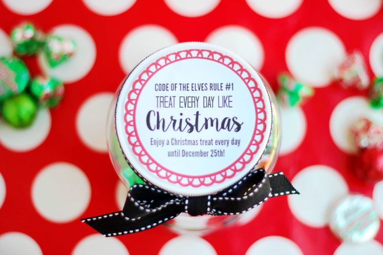 christmas printable label