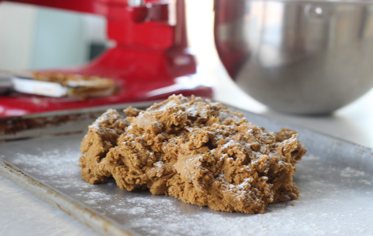 gingerbread cookie bar dough