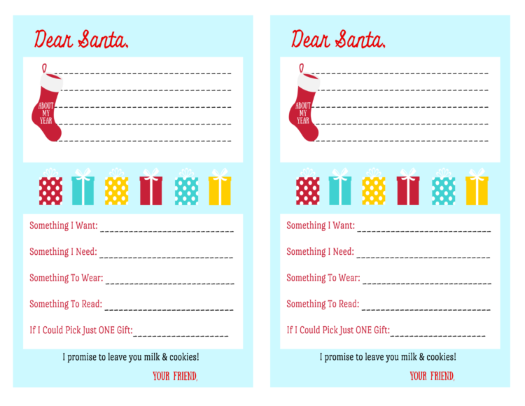 half sheet letters to santa