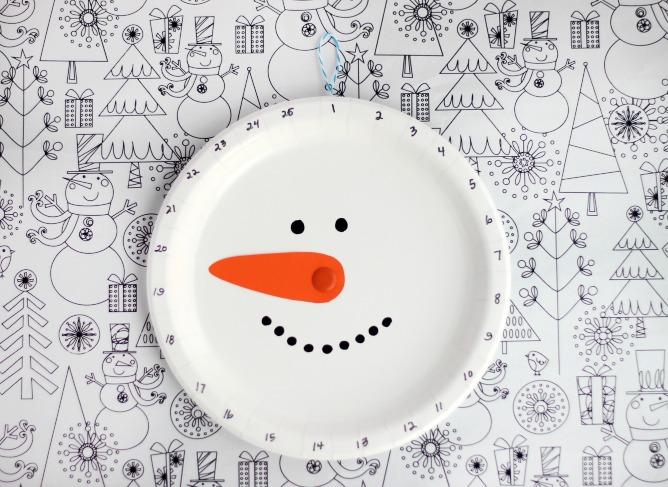 snowman christmas countdown
