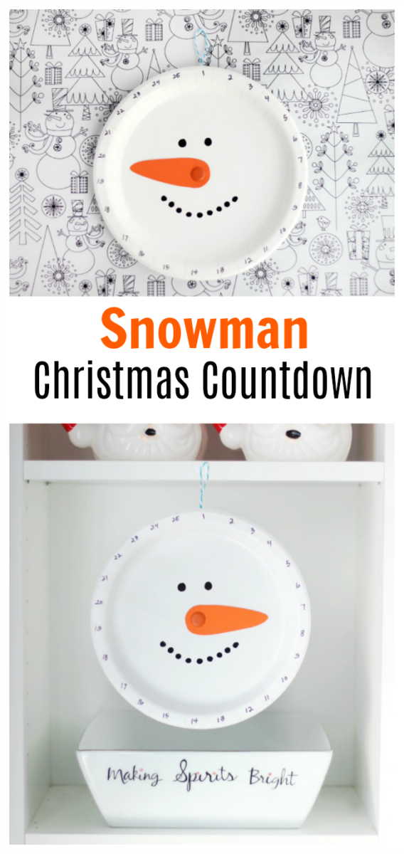 paper plate christmas countdown