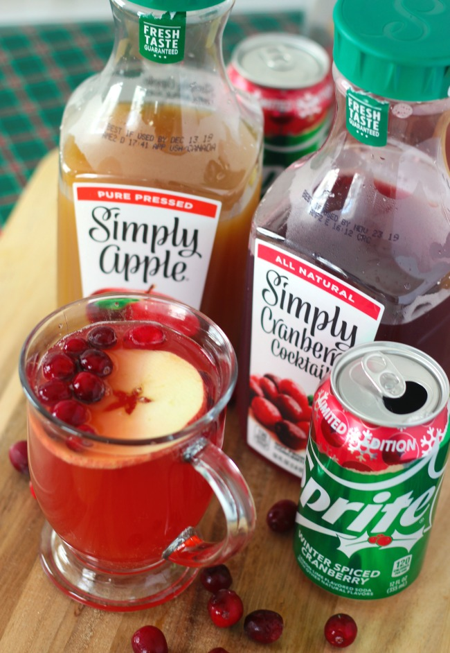 sparkling cranberry apple punch for the holidays