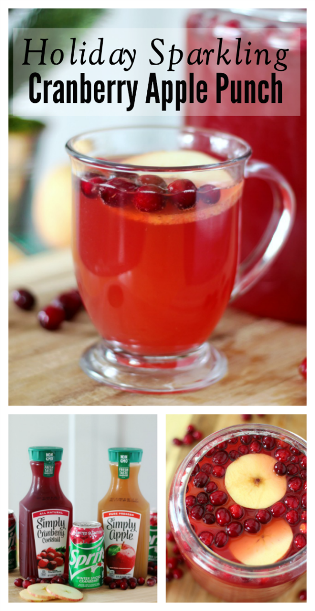 sparkling cranberry apple punch