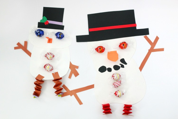 easy chocolate snowman craft for kids