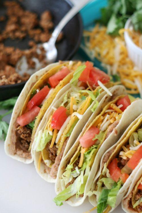 family friendly meal idea: double decker tacos